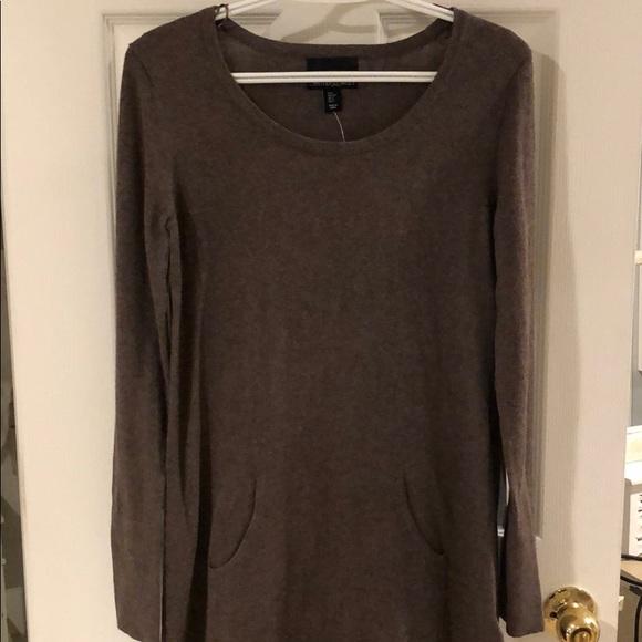 5194e4fb6ed Cynthia Rocket Brown Sweater Dress w  Front Pocket
